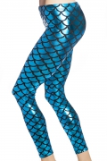 blå sjöjungfru mermaid leggings tights online sverige