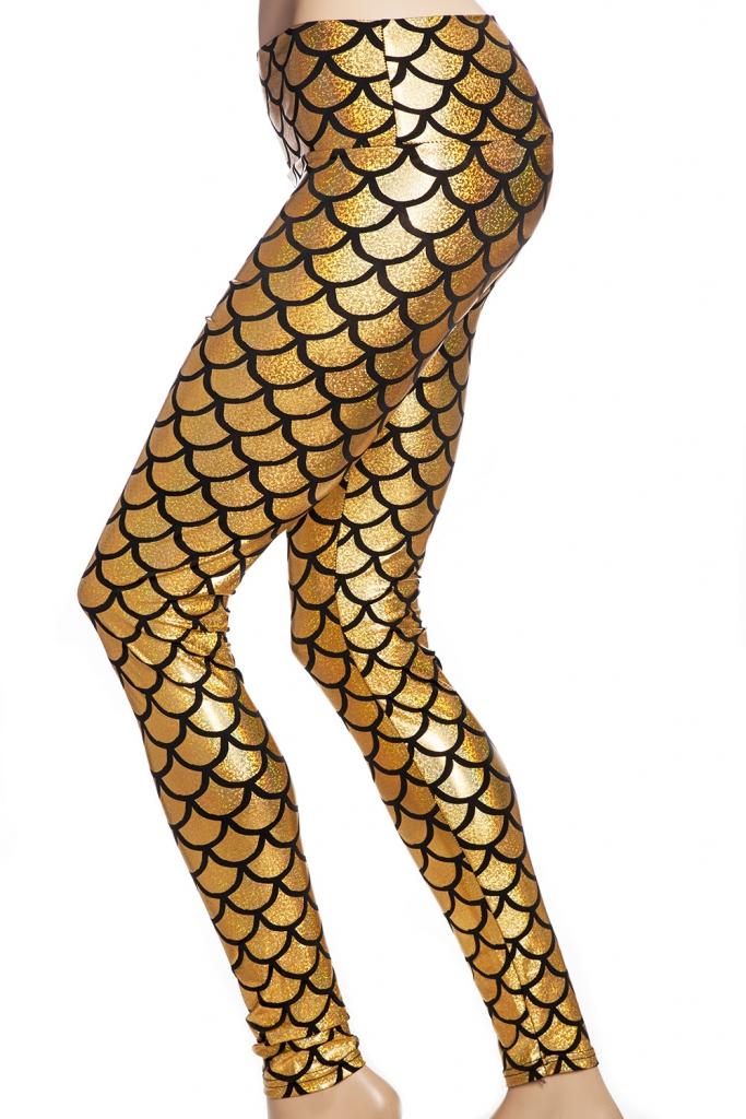 guld sjöjungfru mermaid leggings tights online sverige