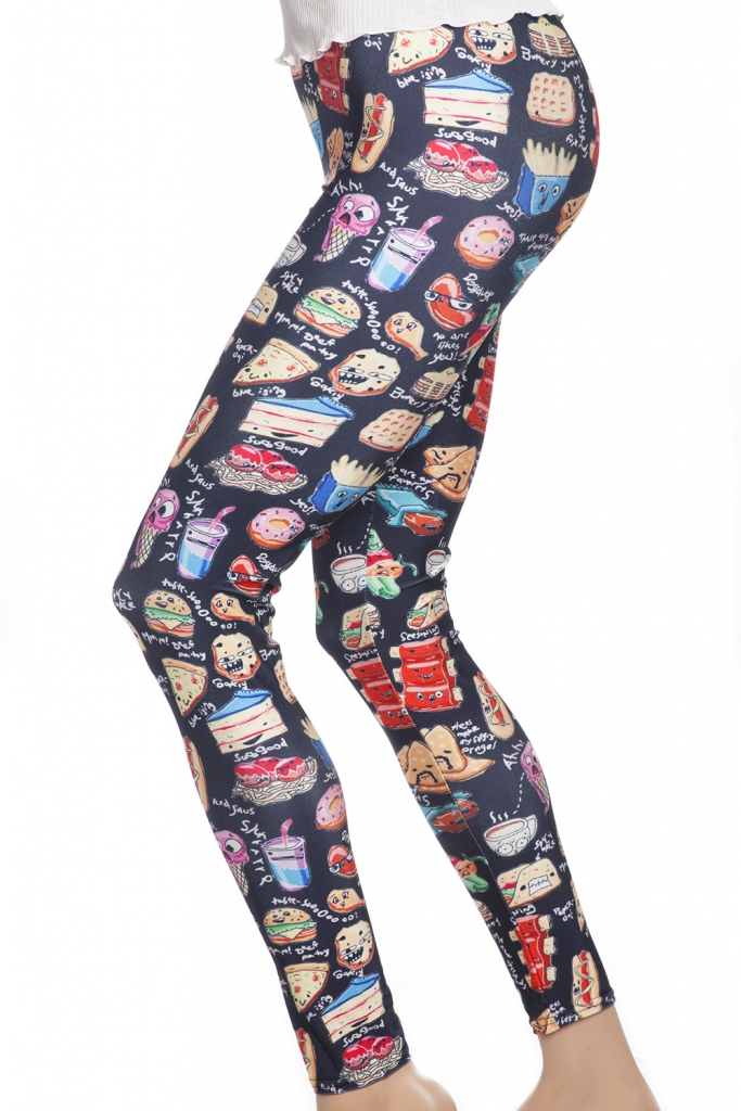 Roligr leggings tights med tecknade serier