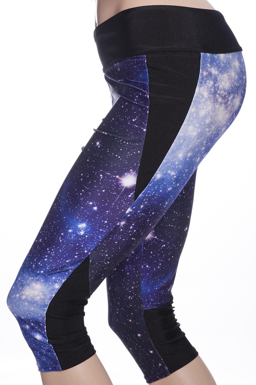 Sport tights leggings galaxy stjärnor och universum