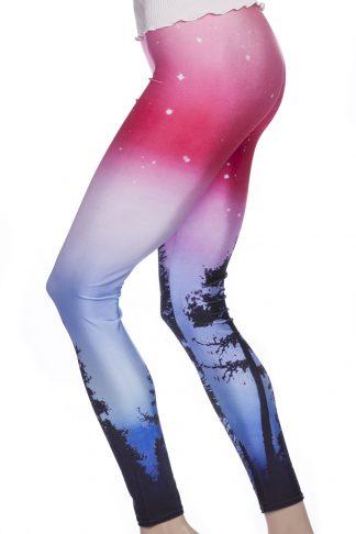Leggings och tights med galaxy mönster