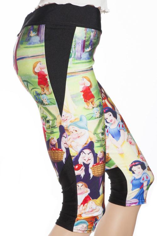 capri sport leggings och tights med snövit