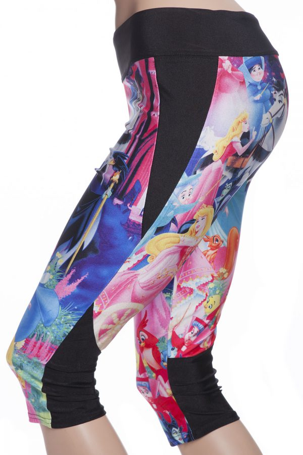 capri sport leggings och tights med törnrosa