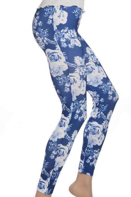 Blp leggings tights med rosor och blommor
