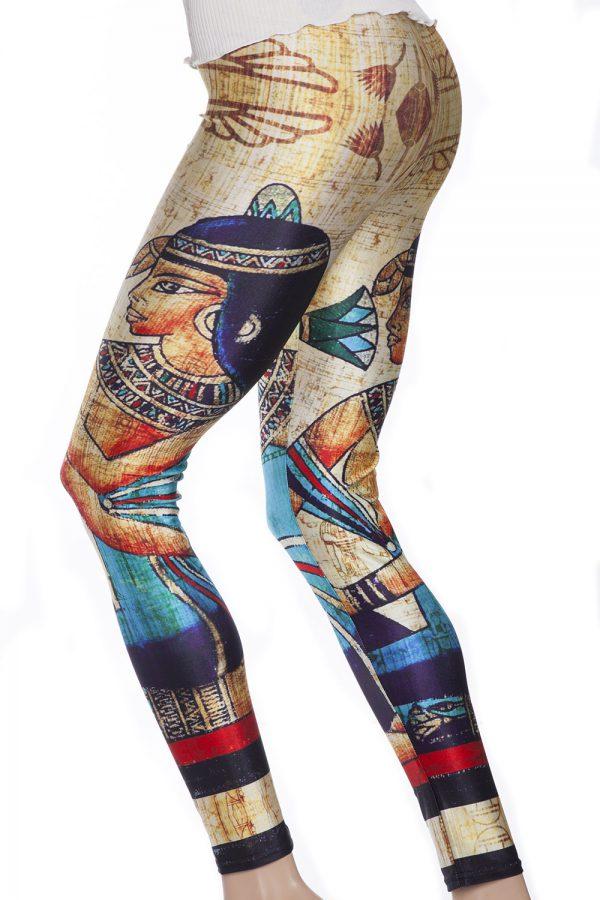 Leggings i guld med Egytiens farao Cleopatra