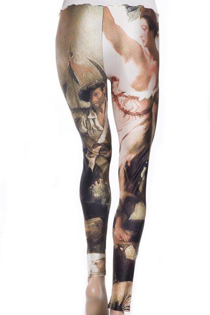 Leggings tights med oljemålning tavla