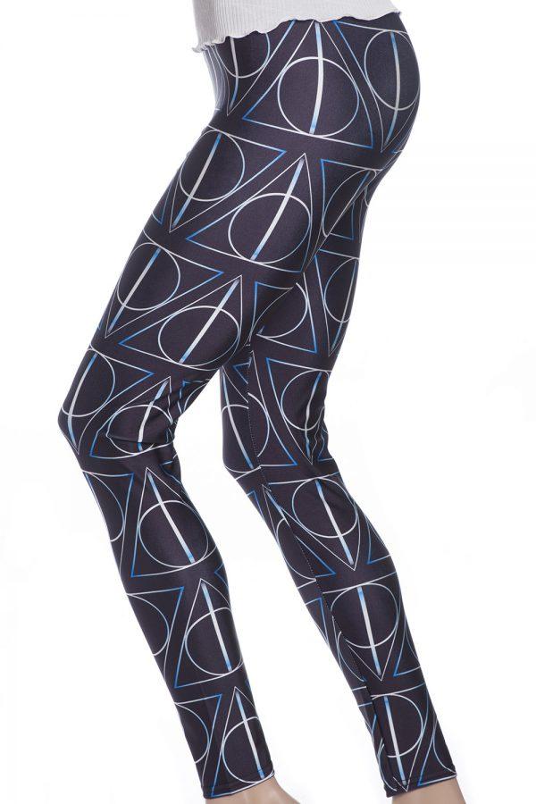Svarta grafiska leggings och tights online