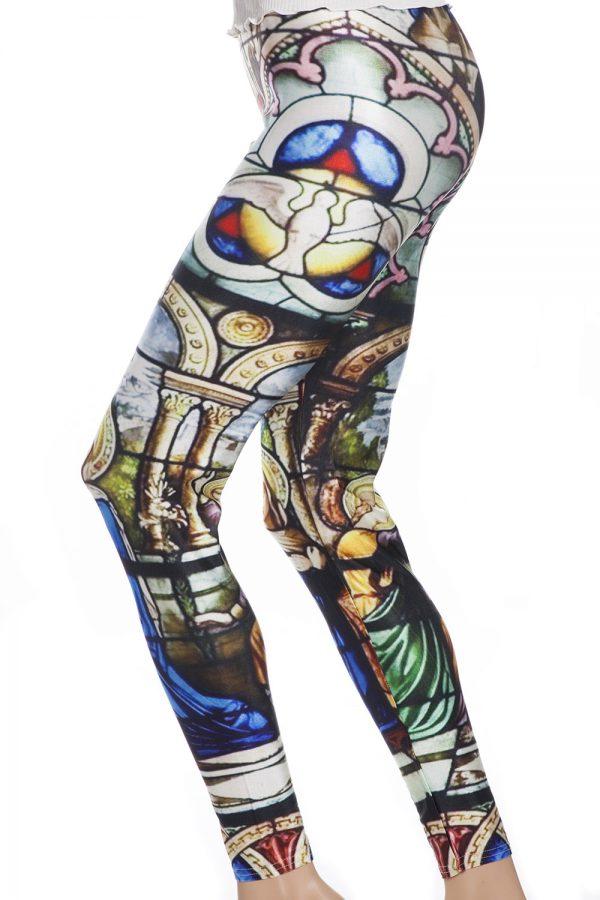 Leggings och tights med vackert mönster av kyrkofönster