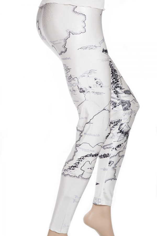 Tights med karta leggings vit