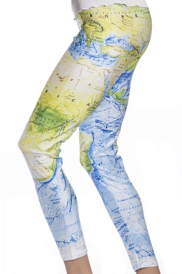 Leggings tights med karta i färg