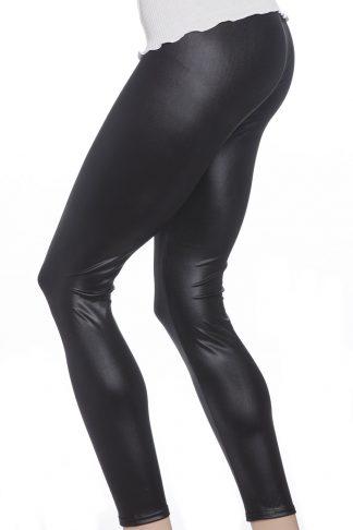 Svarta leggings tights i läder faux leather