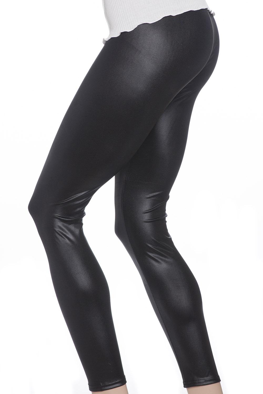 svarta läder leggings