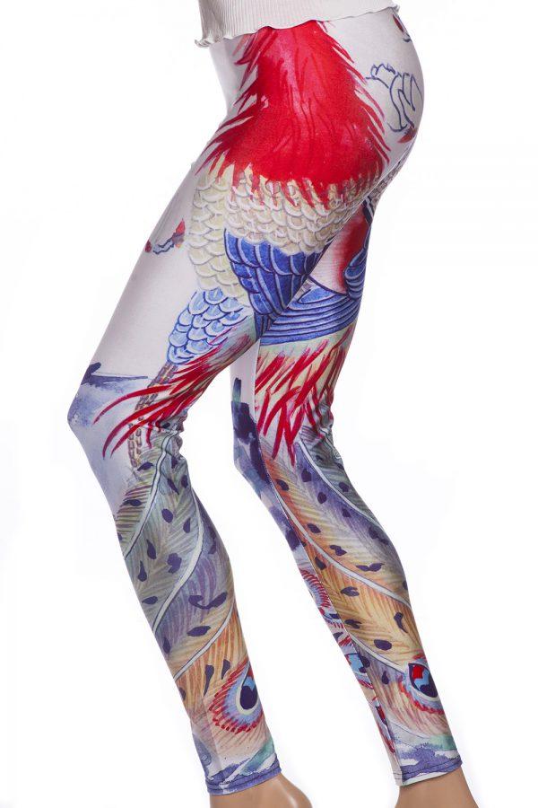 Tuffa tights och leggings med djurmönster och fjädrar