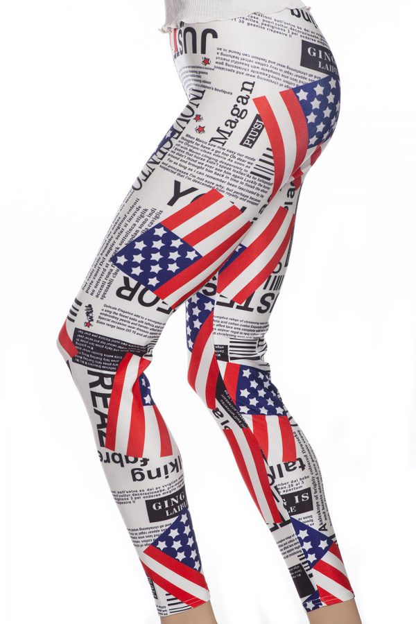 Tights och leggings med USA flagga