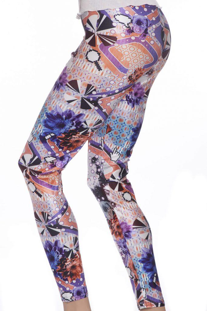 Psykedeliska leggings tights i vackra färger och mönster
