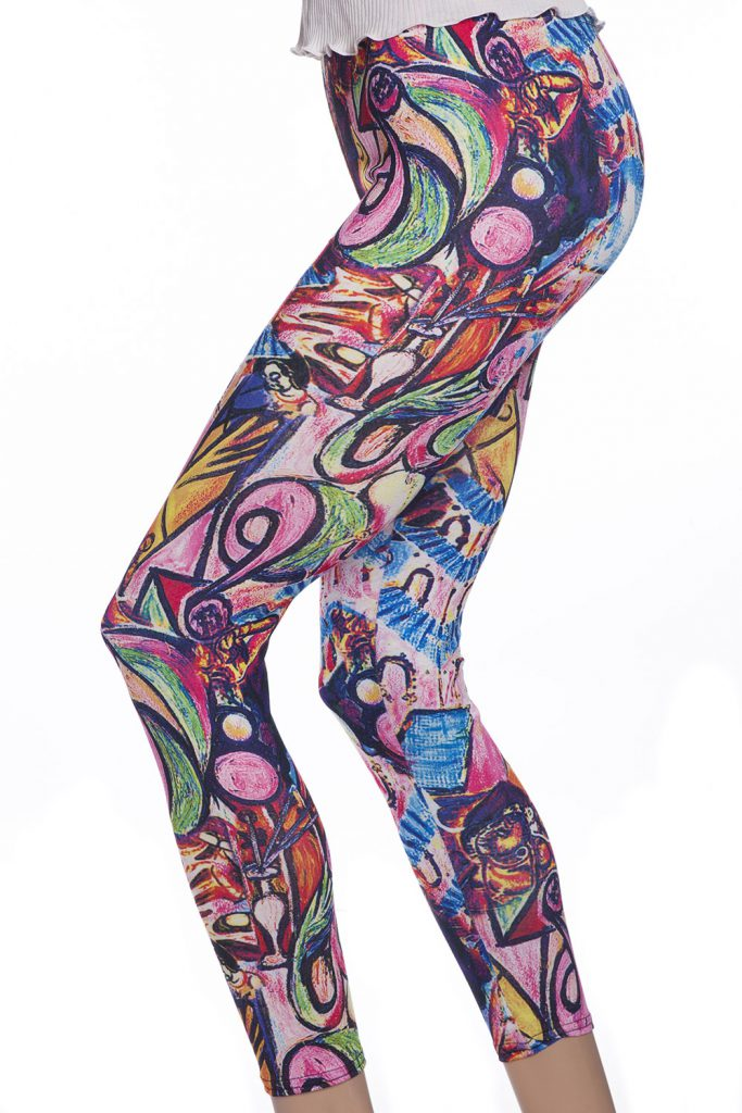 Tuffa snygga leggings tights med graffiti