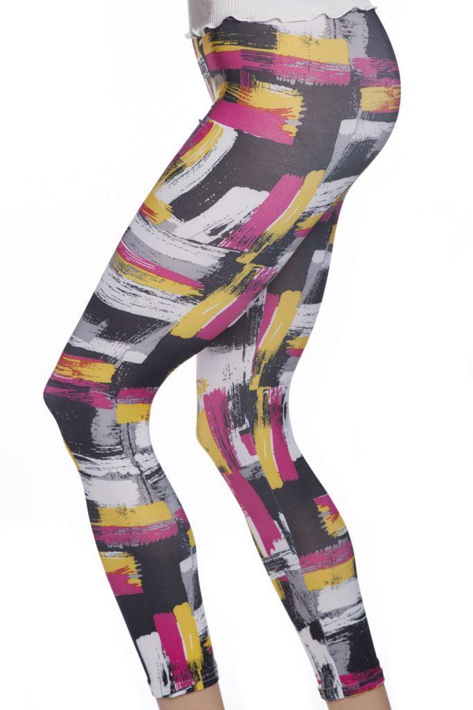 Snygga tights leggings med graffiti färger