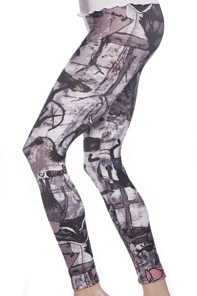 Tuffa grafiska leggings och tights med målningar