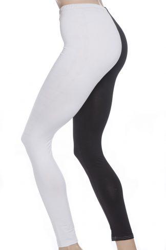 Tights leggings i svart och vitt narr hovnarr gester