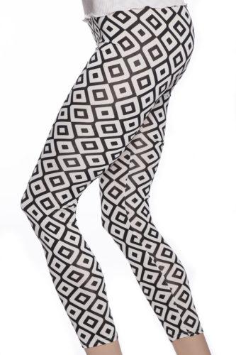 Leggings tights i svart och vitt med tufft mönster