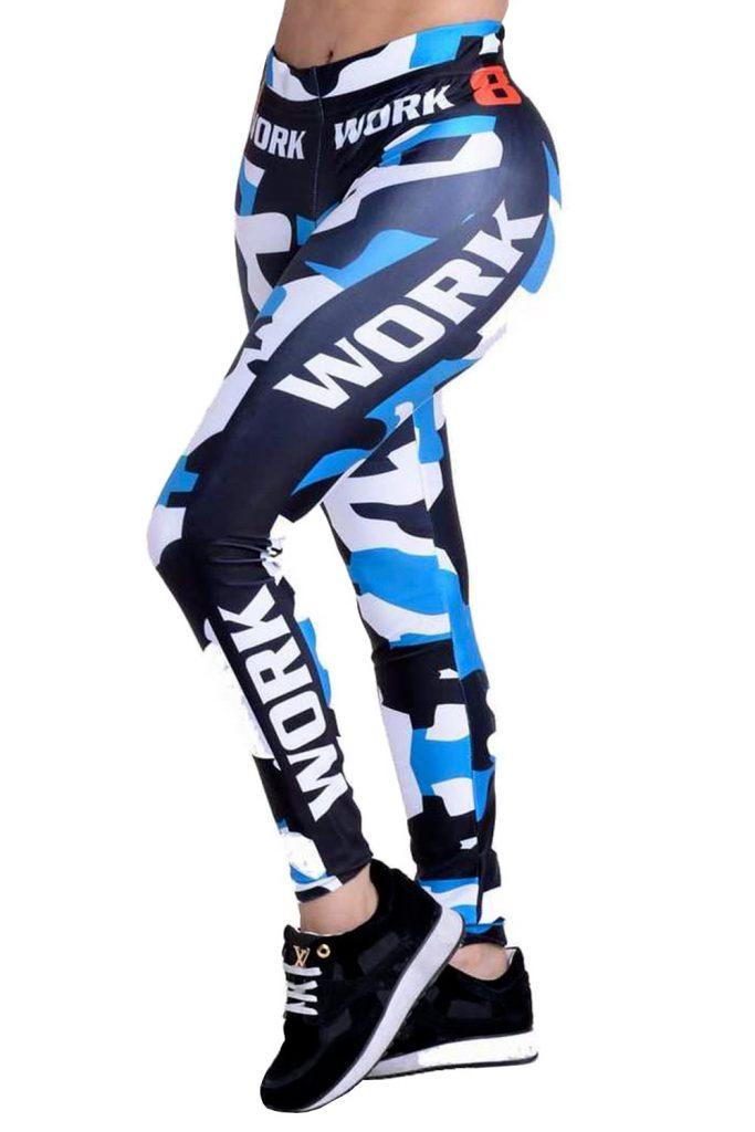 Blue Army Sport Leggings