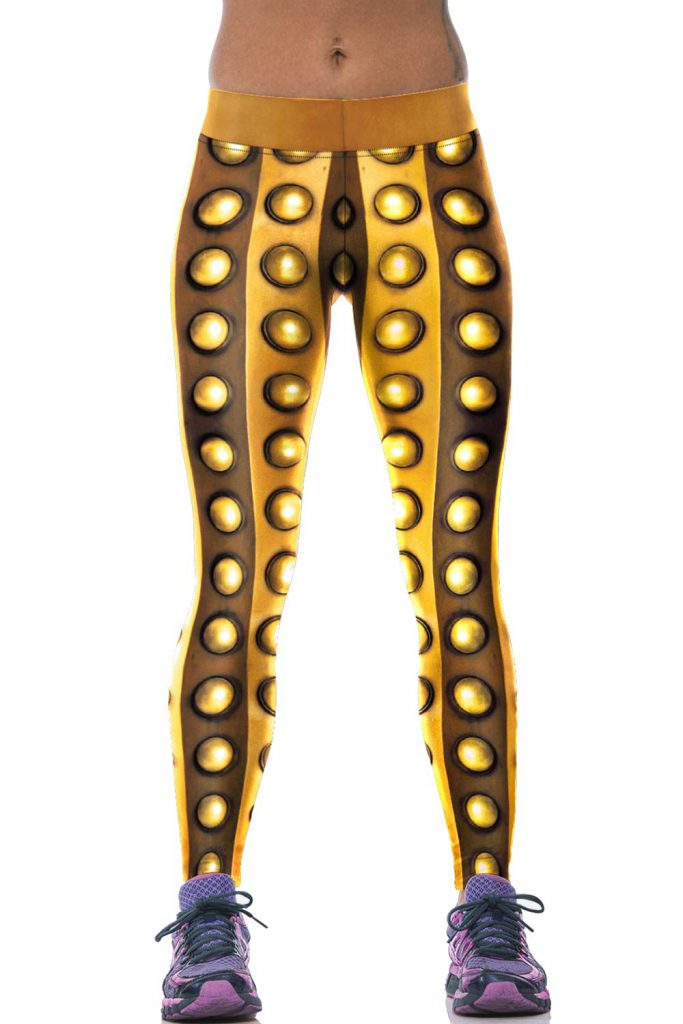 Golden Buttons Sport Leggings