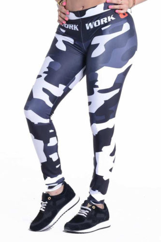 Grey Army Sport Leggings