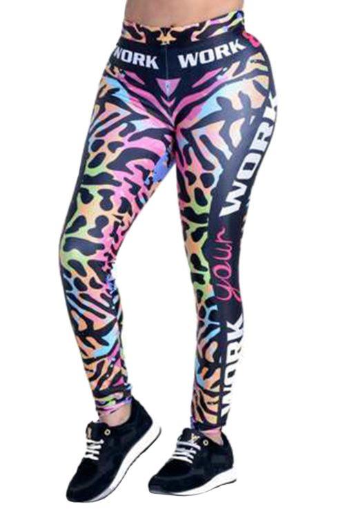 Leopard Rainbow Sport Leggings