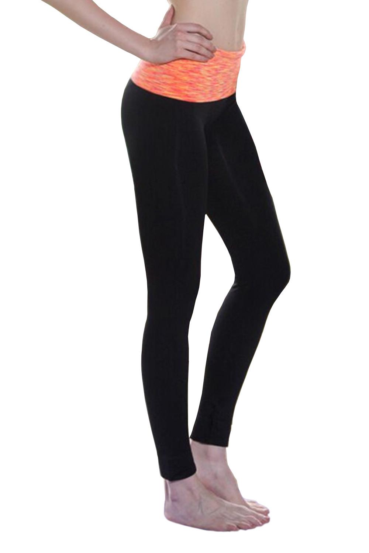 Orange Crush Belt Fitness Leggings