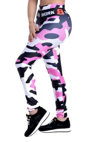 Pink Army Sport Leggings