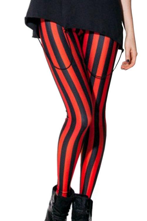 Red Beetlejuice Neon Leggings