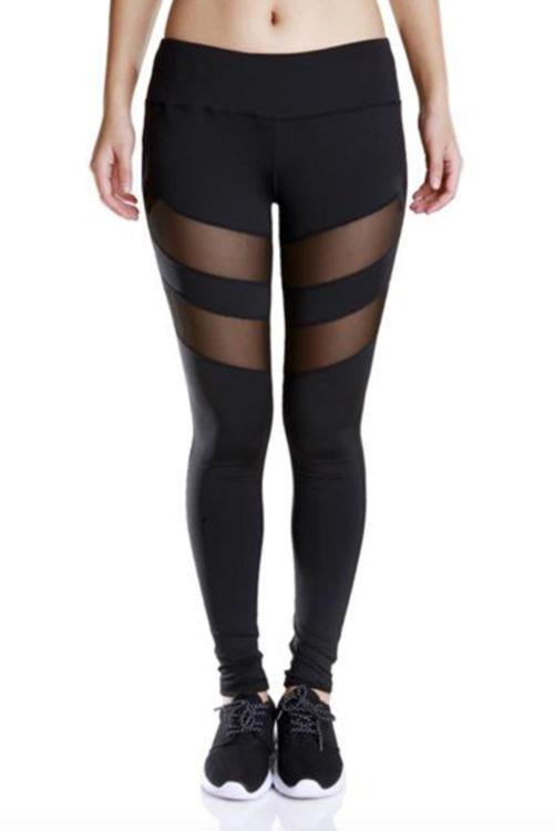 Svarta leggings och tights för yoga och träning.