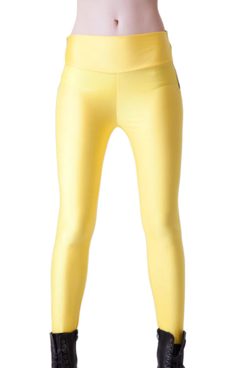 Gula leggings för Yoga och Fitness!