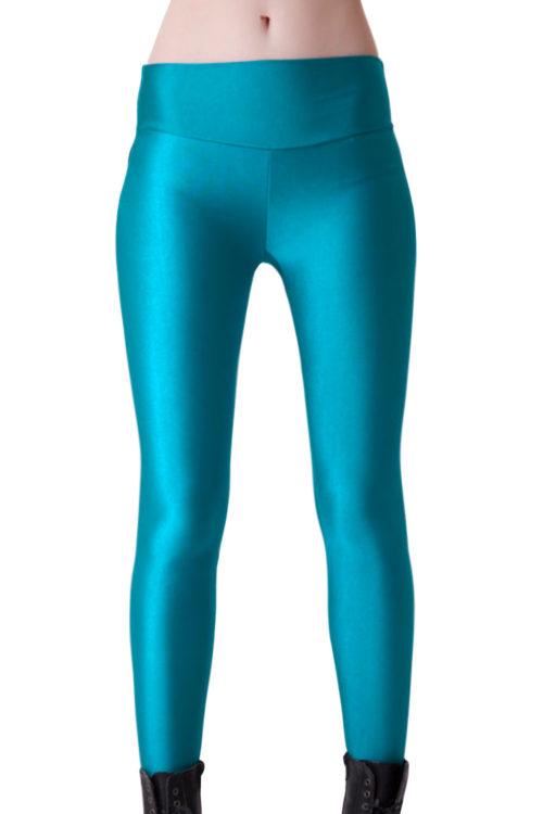 Ljusblå / turkos leggings för yoga och träning!