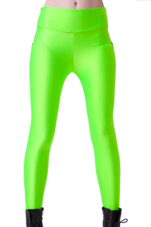 Supercoola neongröna leggings! Köp på LeggingStore.se!