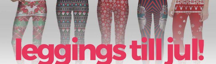 Leggings med julmotiv – galet mycket jul!