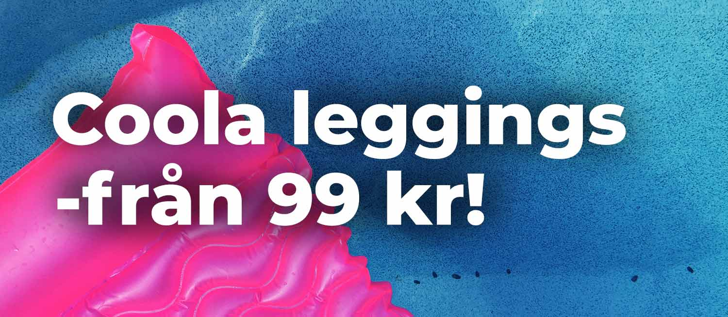 Leggings och tights med 50 procents rea!